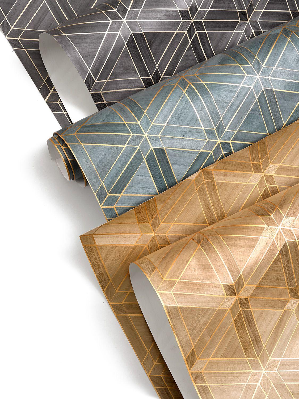 Introducing Facet A Handcrafted Veneer Wallcovering With An Art Deco Edge The Tessellation Of Natural Wood Veneer Juxtaposes A Luxuriou Wood Veneer Natural Wood Wood