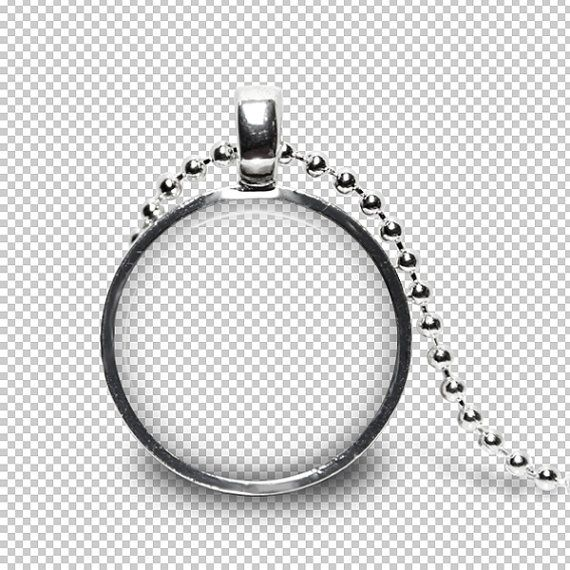 digital photo template for silver round pendant 1 inch setting with