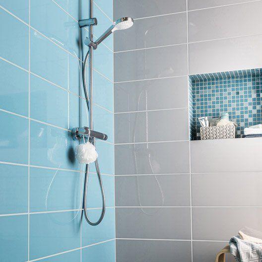 mosaique_mur_loft_bleu_atoll_n_3 salle de bain Pinterest - prix pour faire une salle de bain
