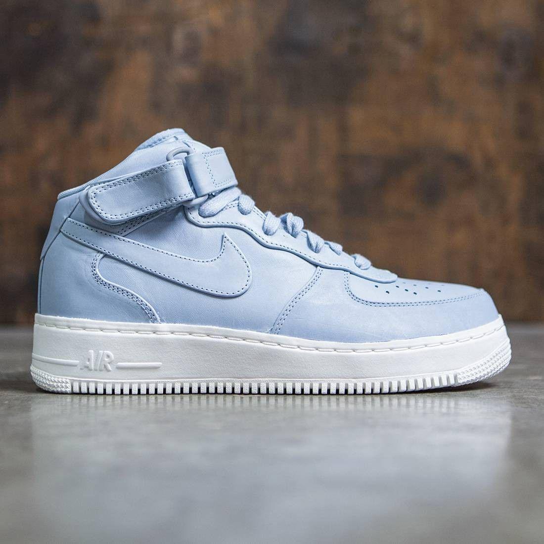 NikeLab Men Air Force 1 Mid (blue grey blue grey blue grey