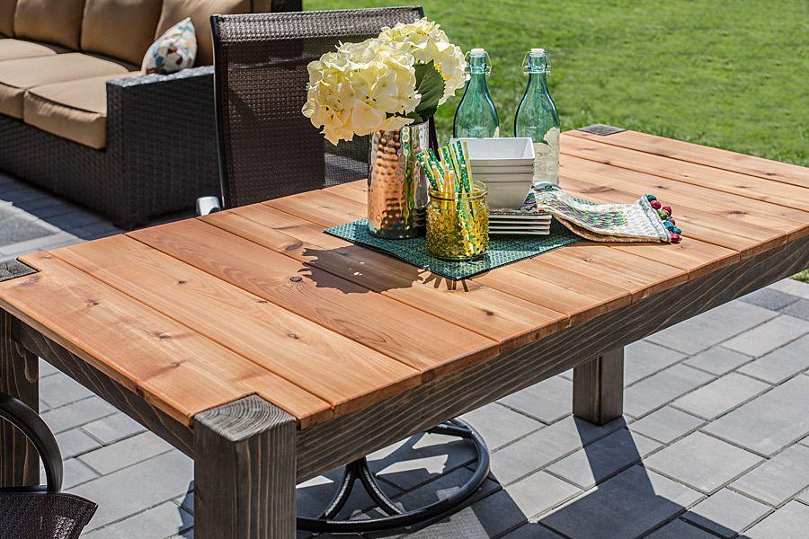 Cedar Patio Table - buildsomething.com