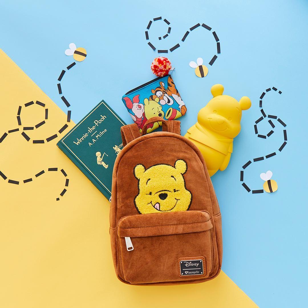 d2e4b0e02d1 Loungefly Disney Winnie The Pooh Corduroy Mini Backpack - BoxLunch ...