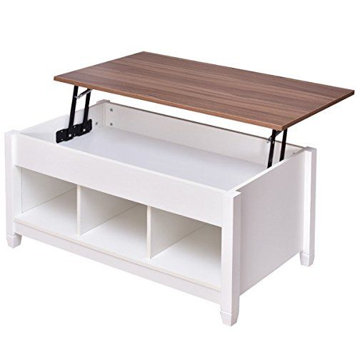 Coffee Table With Lift Top Hidden Compartment And Storage Shelves Modern  Furniture Https://
