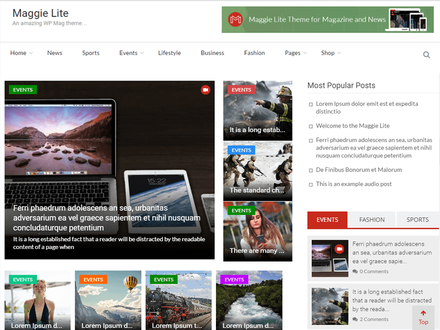 Maggie Lite - Best free WordPress Theme September 2016 | Monthly ...