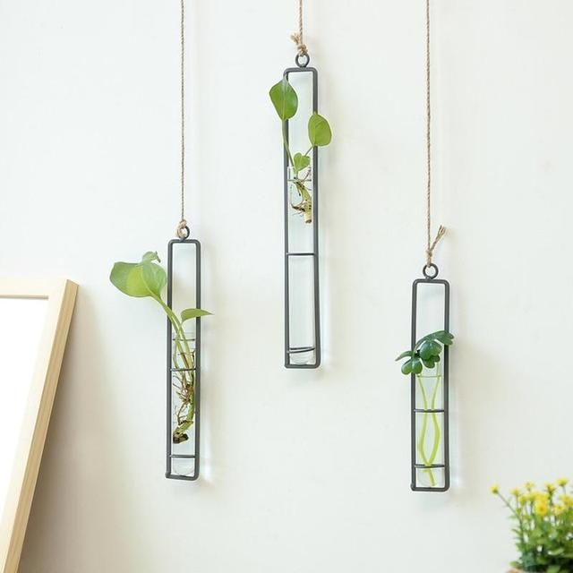 Minimal Iron Plant Wall Hanging Vases And Wall Planters Glass Flower Vases Hanging Vases Plant Vase