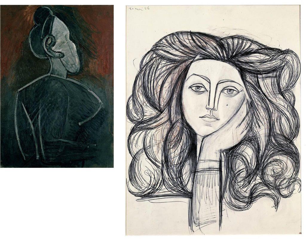 Dibujo preparatorio de Les Demoiselles Françoise Picasso