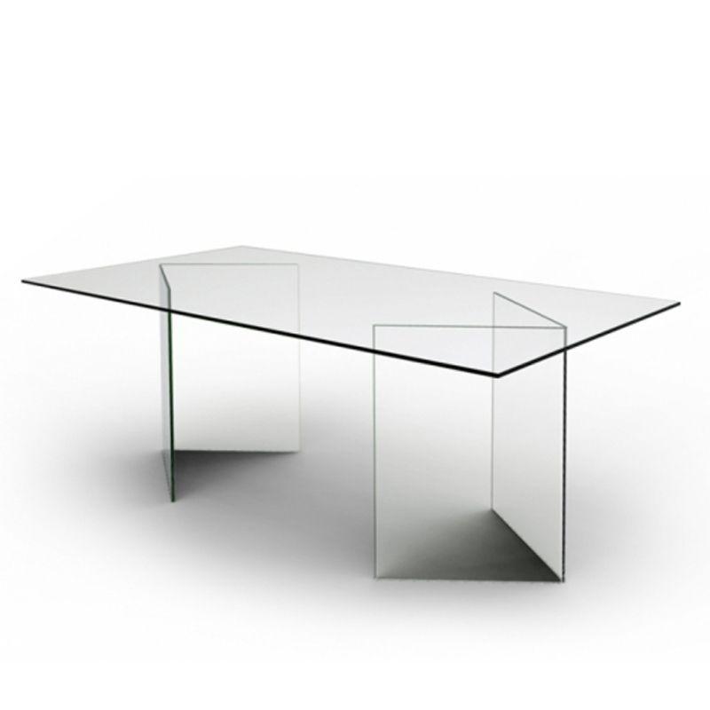 Table de salle à manger entièrement en verre New york Samui