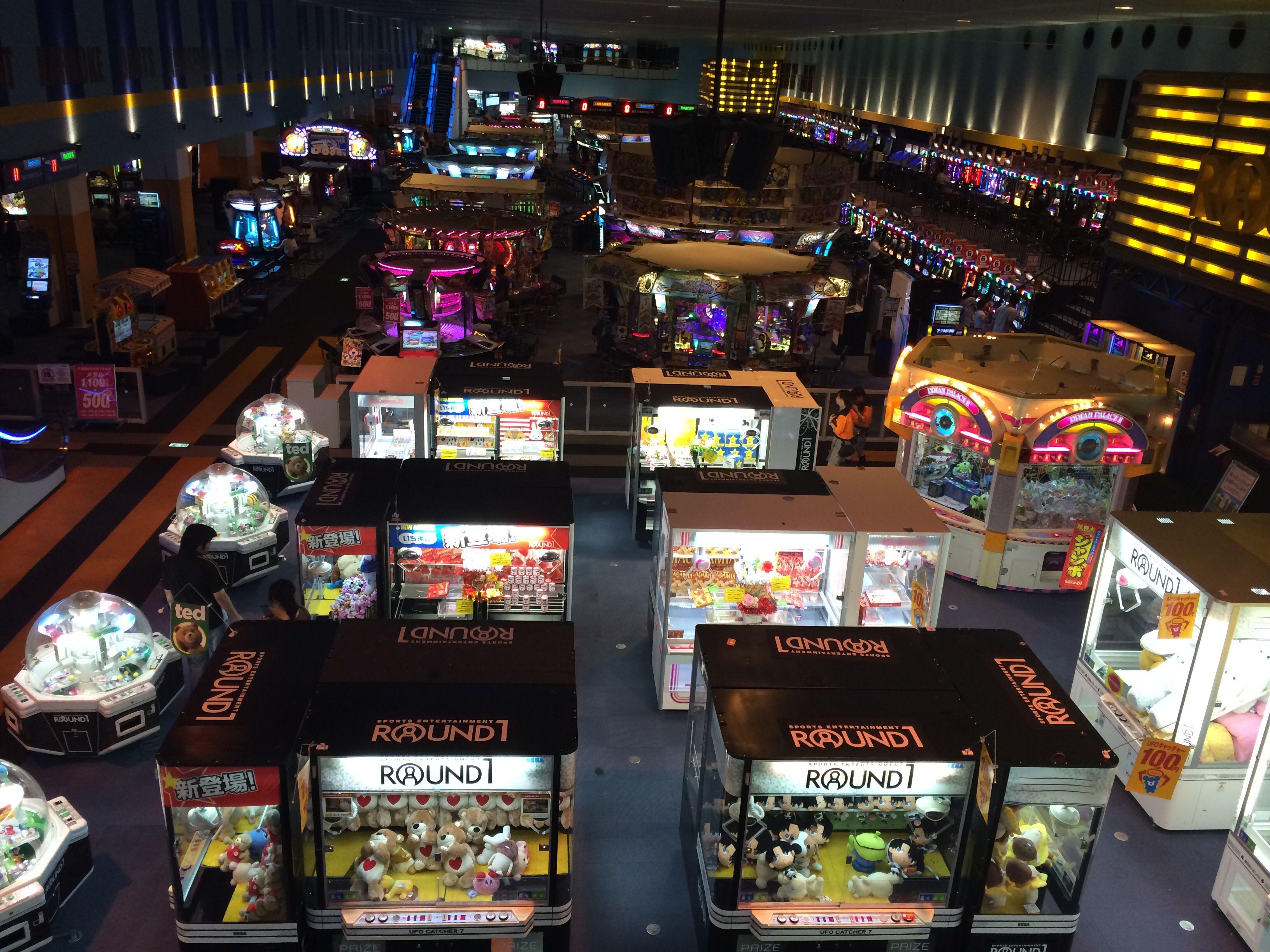 Arcade Round 1 in Ginowan city Okinawa japan, Okinawa, Japan