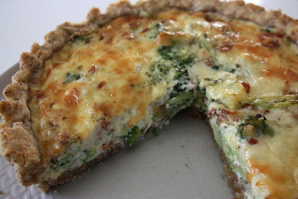 Bacon och broccolipaj