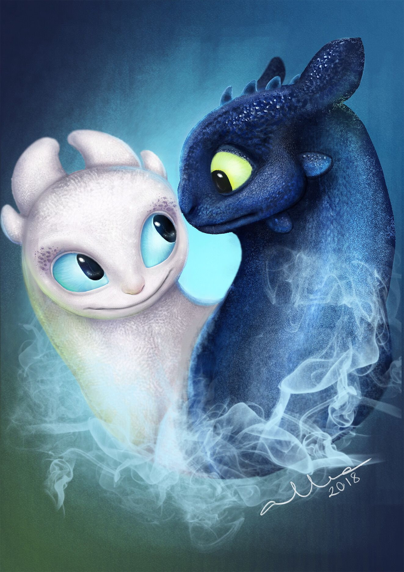 Cute Toothless And Light Fury : toothless, light, Toothless, Night, Mate,, Light, Dragon, Pictures,, Disney, Drawings,, Drawings