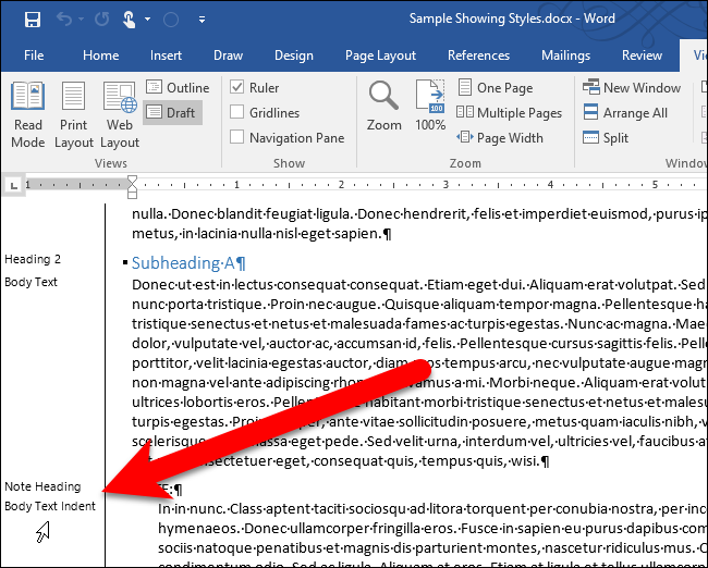 How To See All The Paragraph Styles Used In Your Word Document