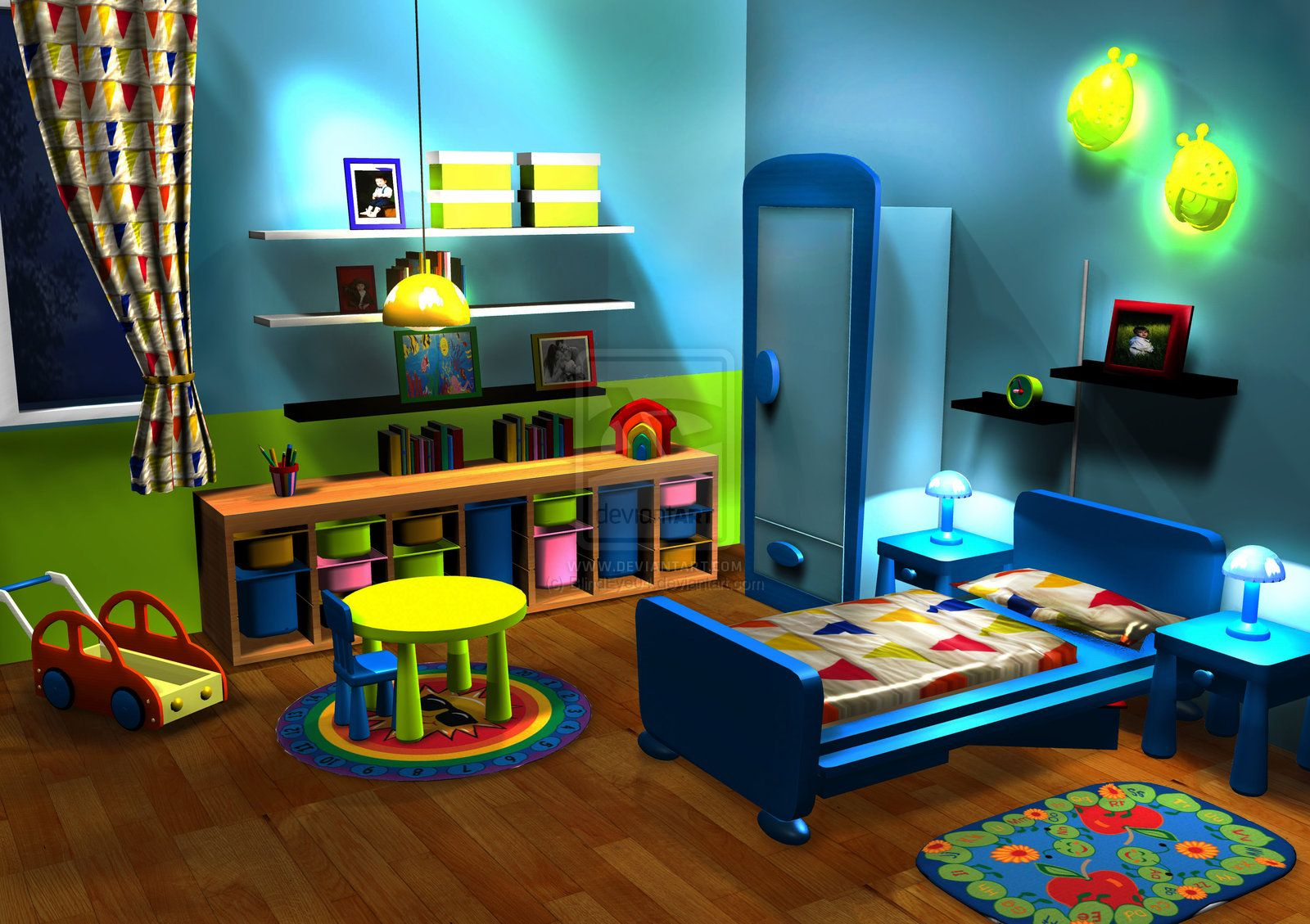 Toddler Boy Bed Ideas: 3D Baby Boys Room:.: By ~BlindEye04 On