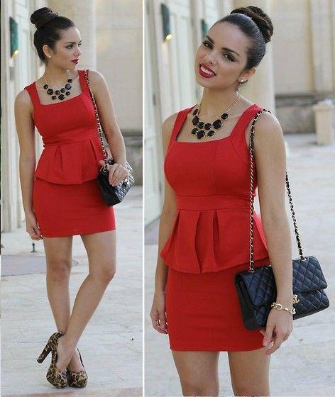 Zapatos para vestidos rojos cortos