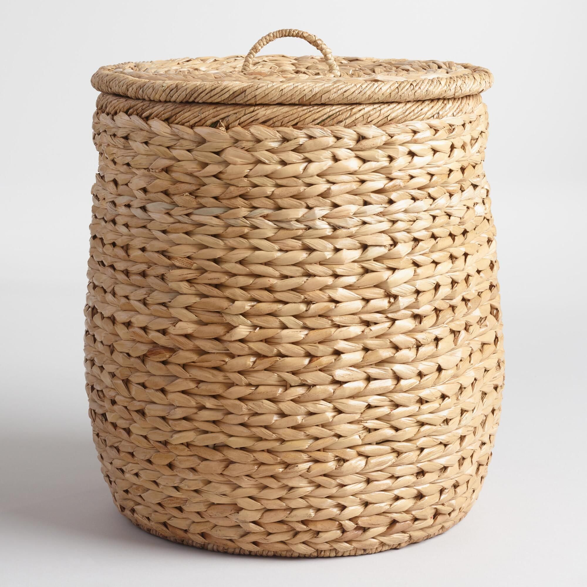 Natural Seagrass Leona Hamper Basket Boho Dorm Room Stylish