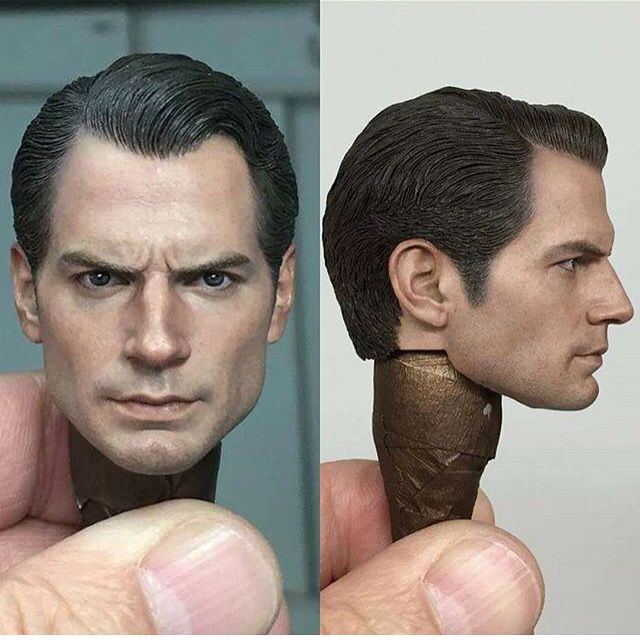 Hot Toys Unveils The Superman Head Sculpt For Their Upcoming Batman V Superman Clay