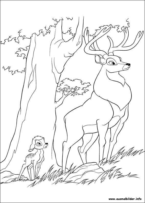 Bambi 2 malvorlagen | Coloring Pages, Ausmalbilder | Pinterest