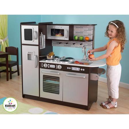 KidKraft Uptown Play Kitchen, Espresso - Walmart.com | Baby ...