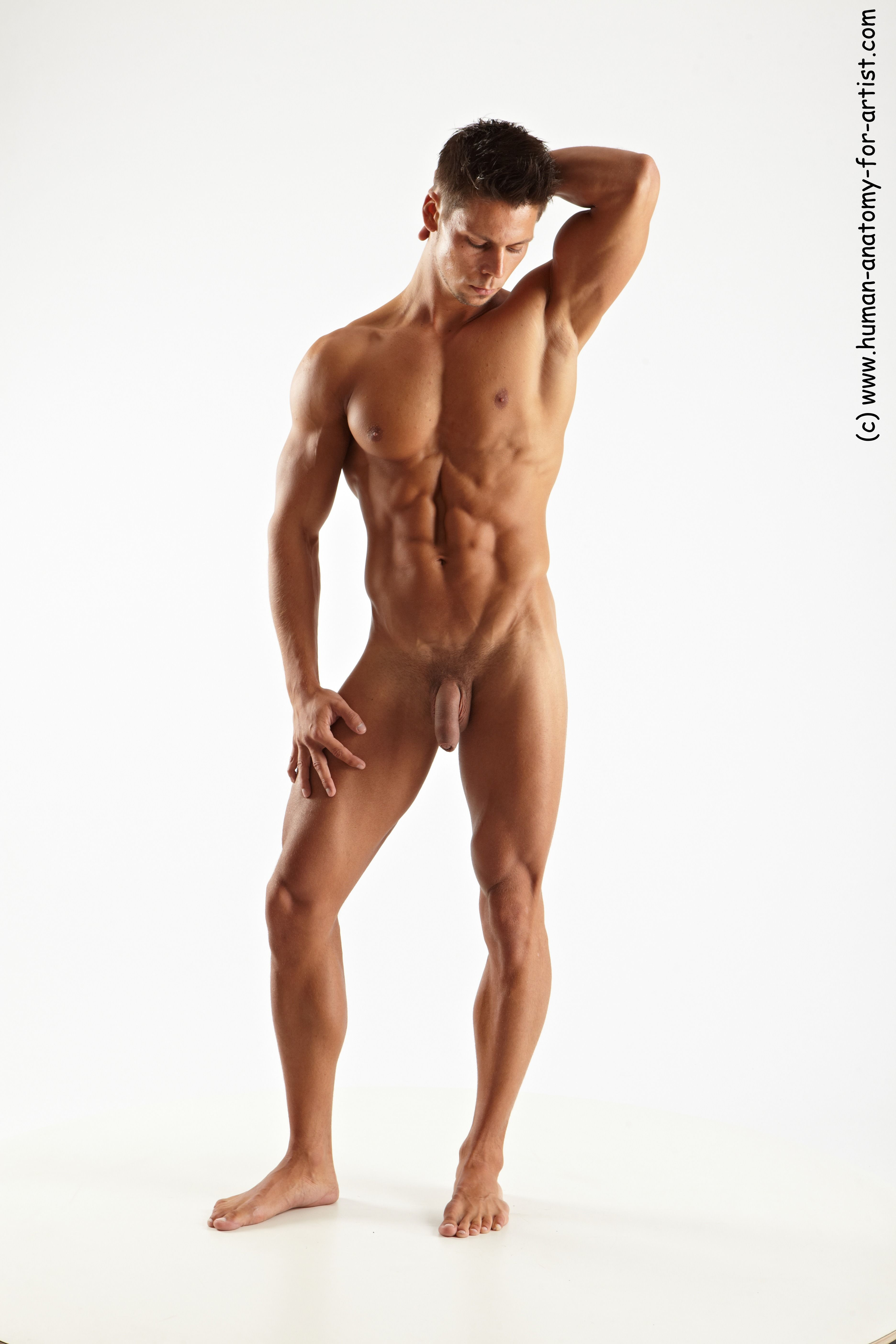 Photo Of Nude Man White Standing Poses - All Muscular -2234