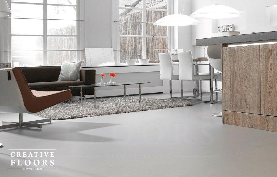 De pu gietvloer is een hoogwaardig kunststof vloer welke in 1 kleur