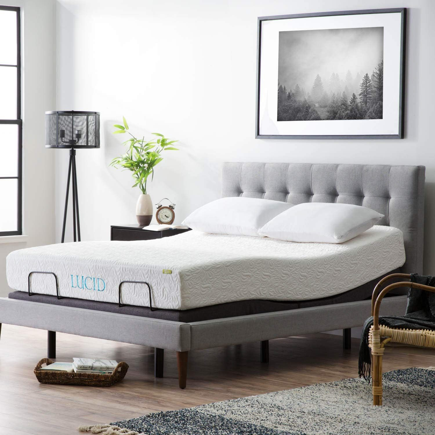 LUCID L300 Adjustable Bed Base 5 Minute Assembly Dual