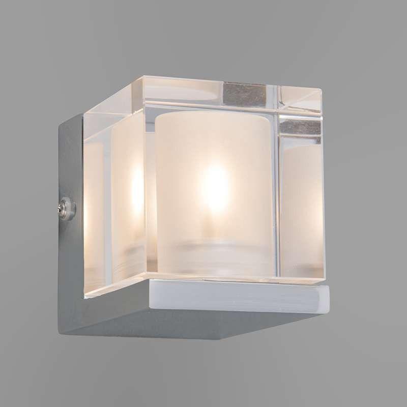 Badkamer wandlamp Dice 1 chrome - Badkamerverlichting - Verlichting ...