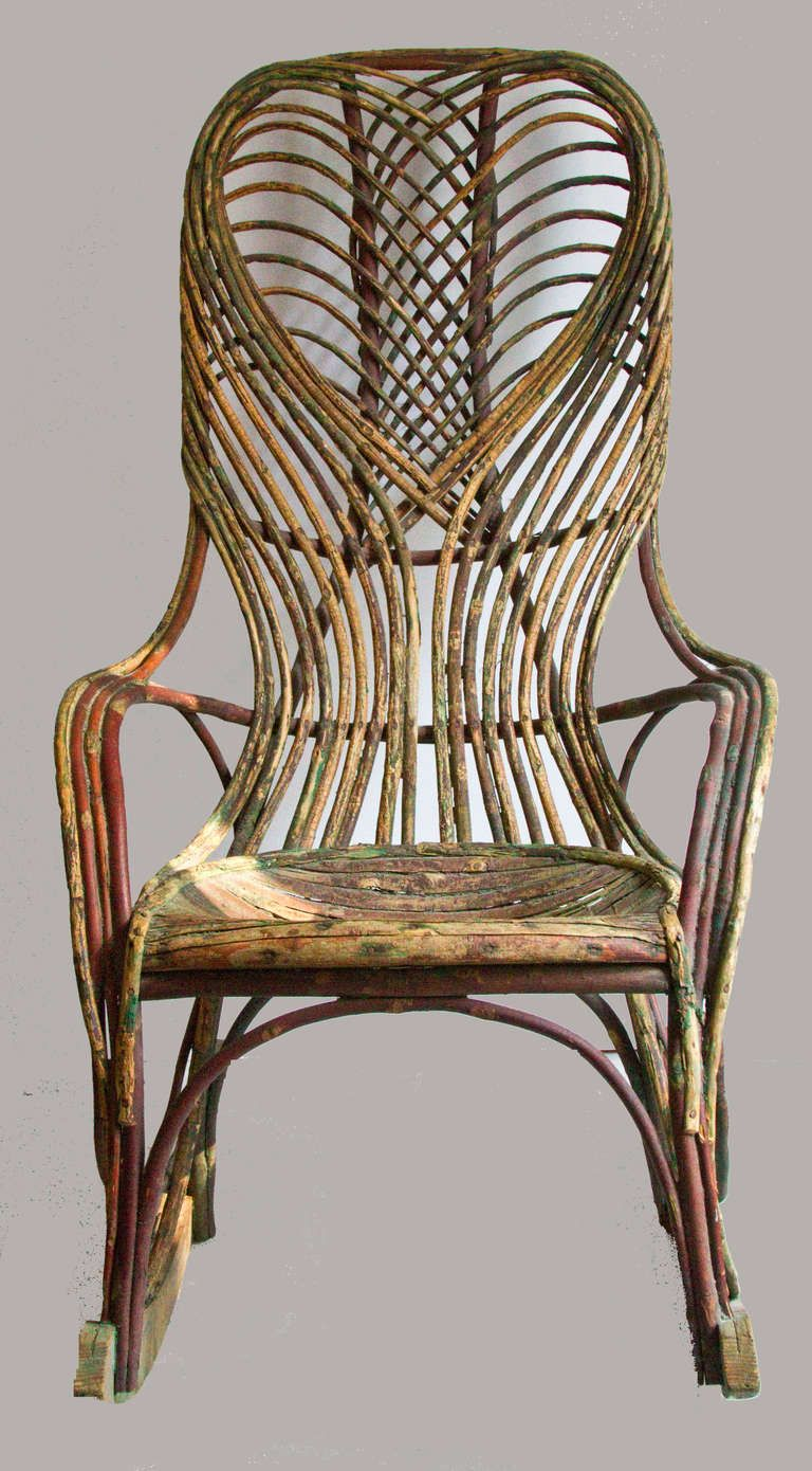 Early 20th Century Twig Rocking Chair Troncos Sillas Y Muebles  # Muebles Sisal Queretaro