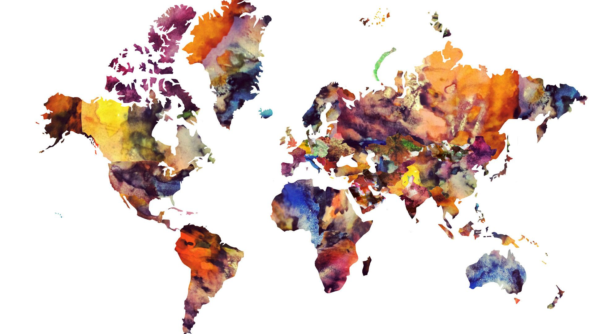 1920 X 1080 7 Mundo Mapa Desktop Wallpaper7 1 600x338 Water Color World Map World Map Art World Map Wallpaper