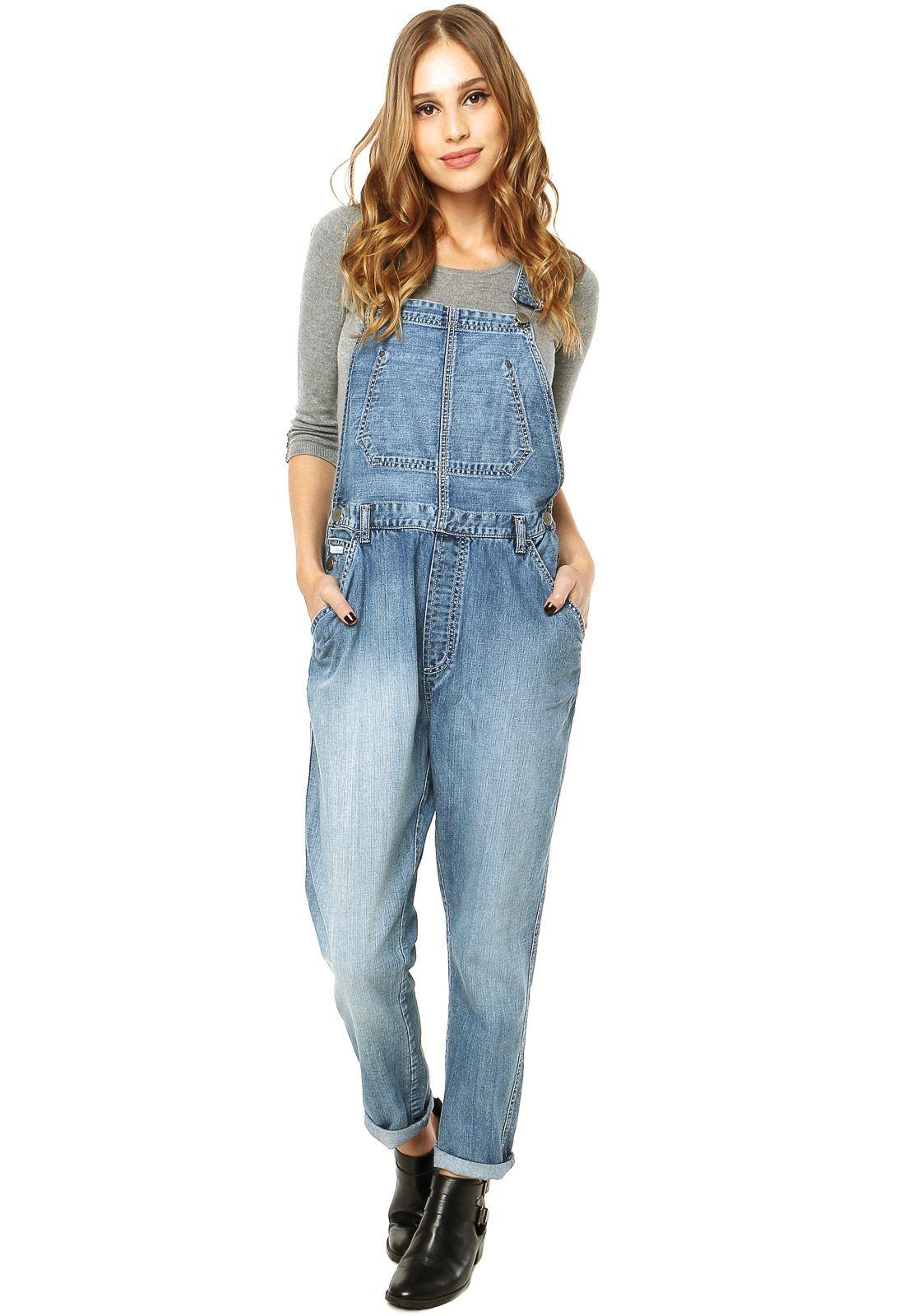 8cbb530c1 Macacão Jeans Calvin Klein Jeans Lottie Moss Azul - Compre Agora | Dafiti  Brasil