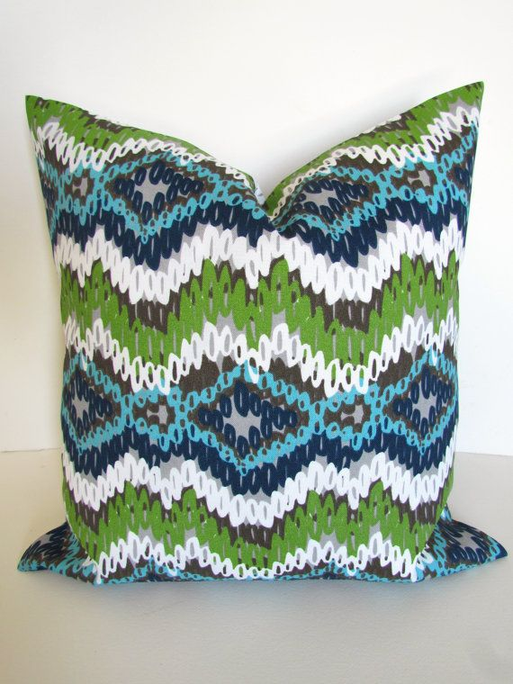 OUTDOOR PILLOWS Blue Throw Pillow Decorative By SayItWithPillows Custom Decorative Outdoor Pillows On Sale