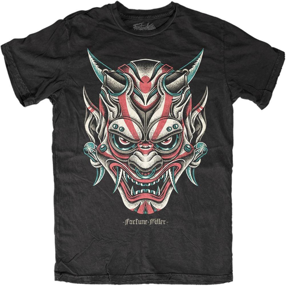 dd49b8ae Men's Fortune Killer Oni Demon T-Shirt Black | Men's Apparel in 2019 ...