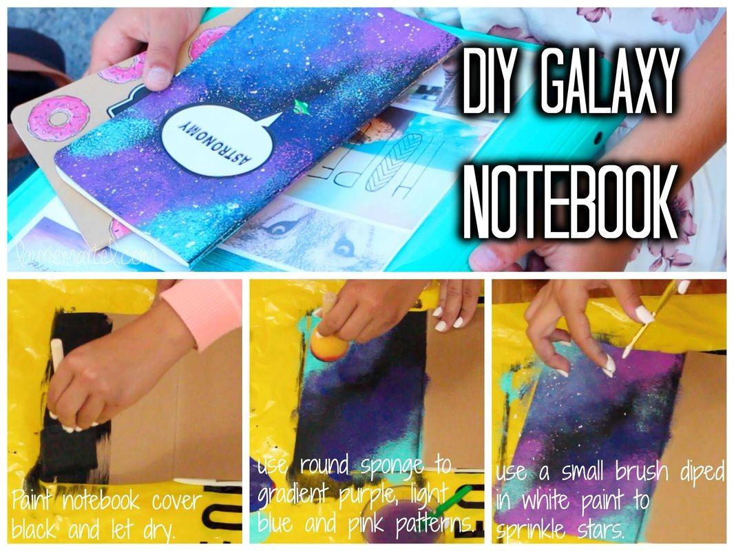 Diy galaxy notebook galaxia pinterest manualidades bricolaje y manualidades y bricolaje - Manualidades y bricolaje ...