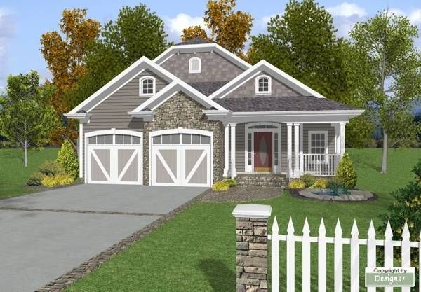 The Bayside Cottage 6551 3 Bedrooms And 3 Baths The House Designers Country Style House Plans Cottage House Plans Craftsman House Plans
