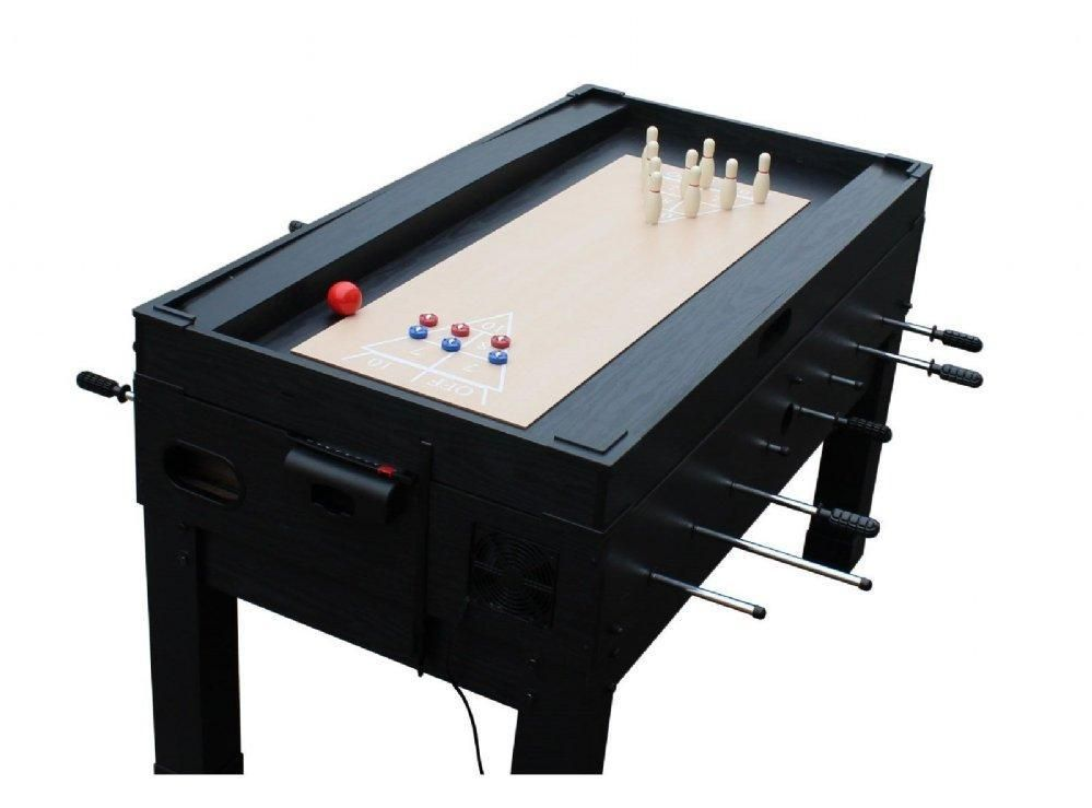 13 In 1 Combo Game Table Foosball, Ping Pong, Air Hockey In Black