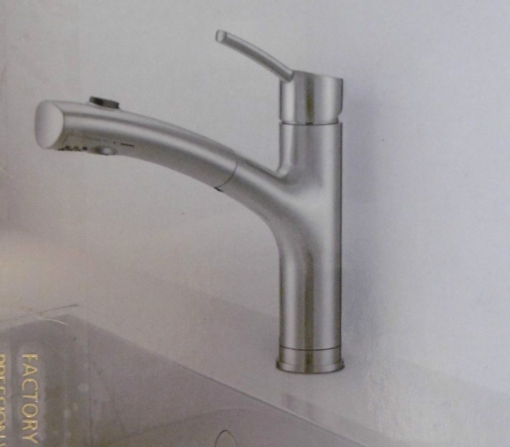 WATERRIDGE BRUSHED NICKEL PULL-OUT KITCHEN FAUCET Easy Installation ...