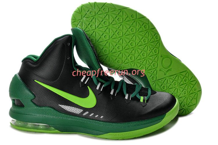 new arrival 951b5 477e6 New Nike Zoom KD V Kevin Durant 5 Shoes For Sale Black Gorge Green 554988  004