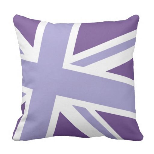Union Jack Fashion Throw Pillow in Violet