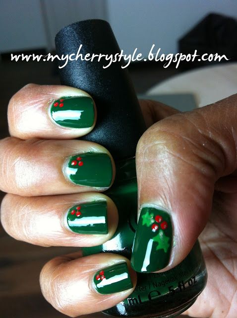 [Day 1, Project E.L.F.] Holly-Day Nails   my cherry style