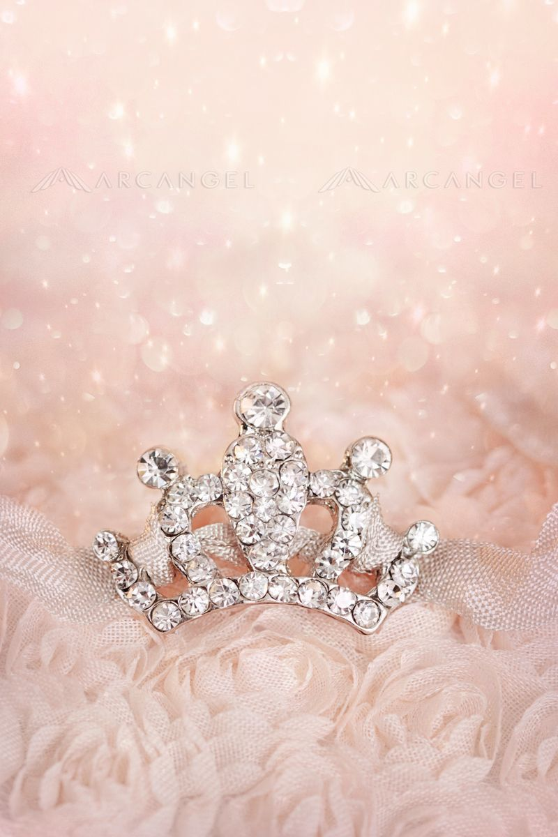 Small diamond crown on pastel background Pastel