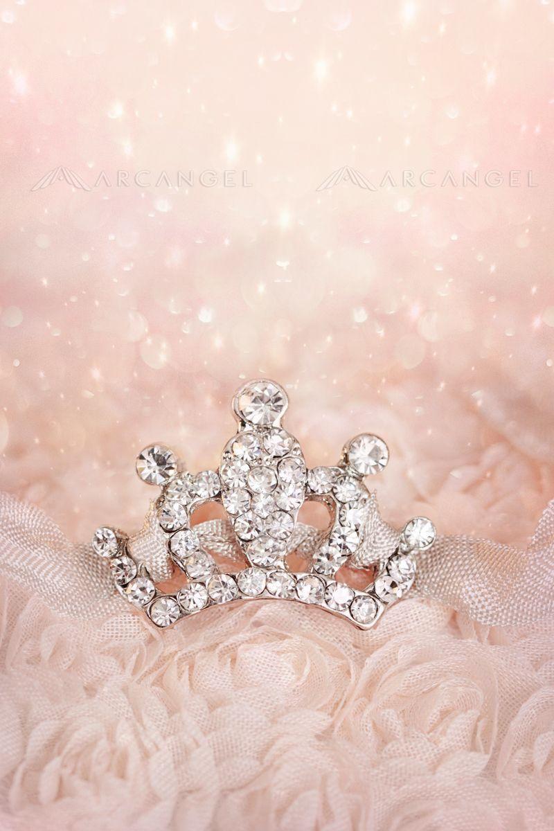 small diamond crown pastel background