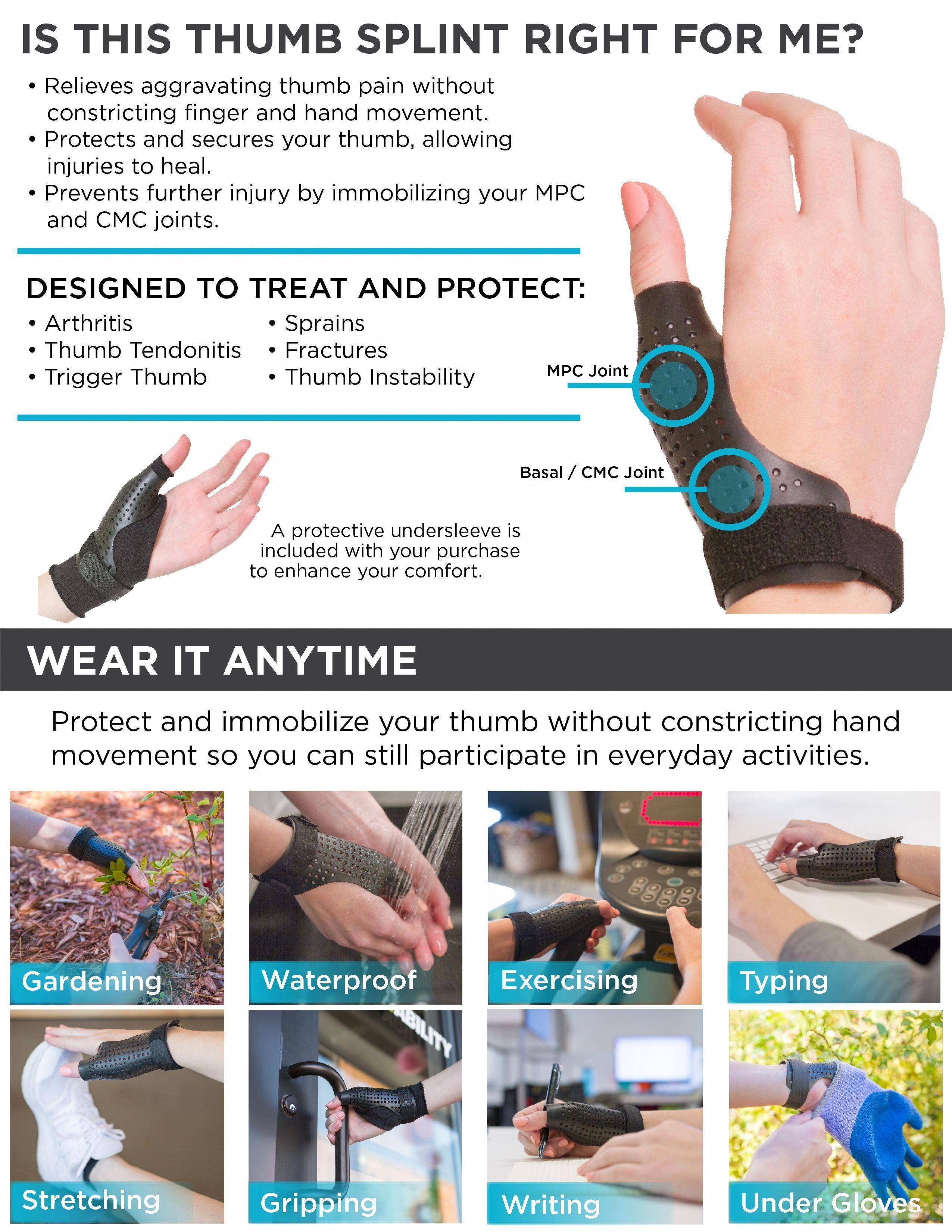 Hard Plastic Thumb Splint and Arthritis Treatment Brace to Immobilize &  Stabilize Your Thumb Joint #rheumatoidarthritissymptoms