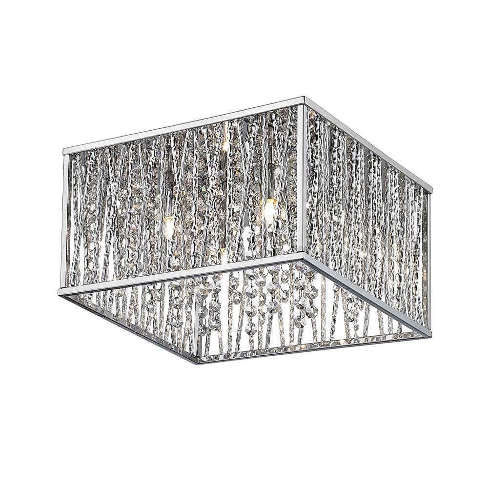 Home decorators collection light chrome flushmount lights gray