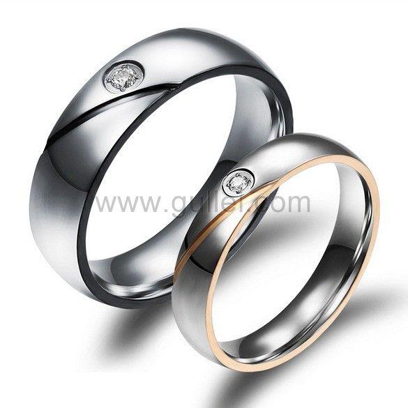 Engraved Titanium Wedding Rings for Men and Women Titanium wedding