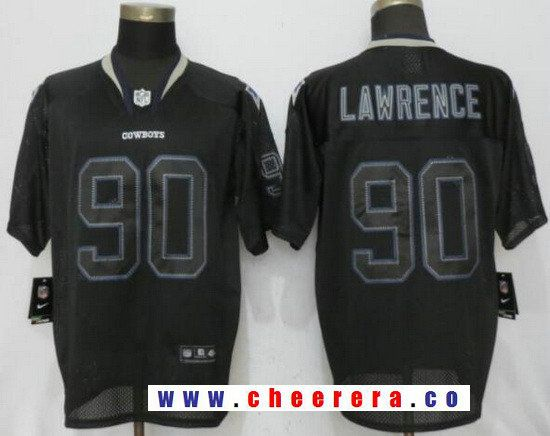 mens dallas cowboys 90 demarcus lawrence lights out black stitched nfl nike elite jersey
