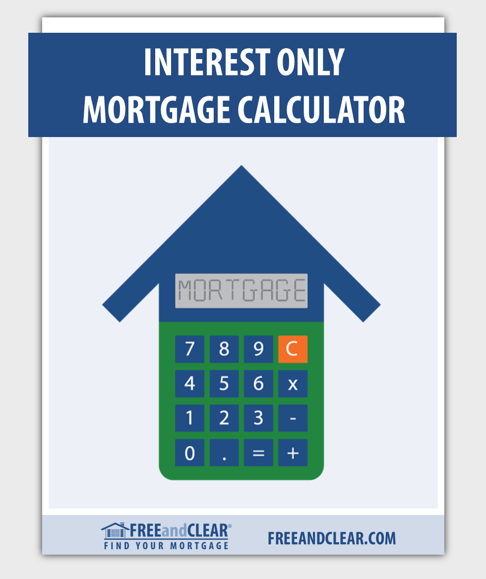 Interest Only Mortgage Calculator Freeandclear Mortgage Amortization Mortgage Refinance Calculator Refinance Calculator