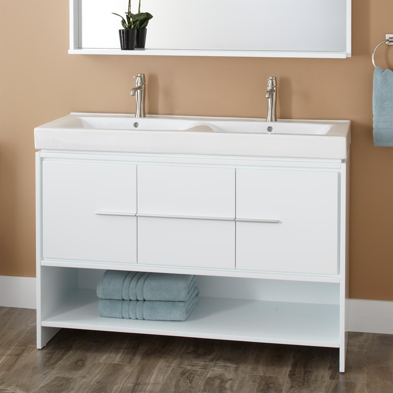 bathroom floor storage cabinets white | Stribal.com | Design ...
