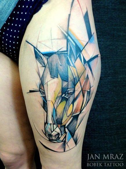 Horse Tattoo By Jan Mraz Horse Tattoo Tattoos Tattoo Artists