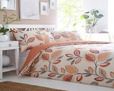 LEAF TRAIL Duvet Sets Single Double King  Super King  Terracotta