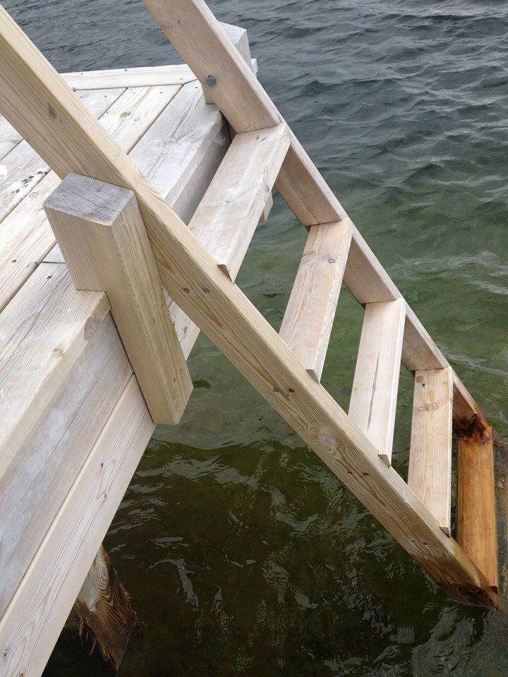 Badsteg redmountab boat dock lake dock outdoor stairs