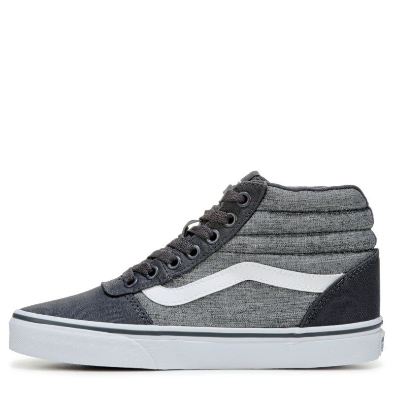 Vans Women s Ward High Top Skate Shoes (Textilegrey) 45021ff3f