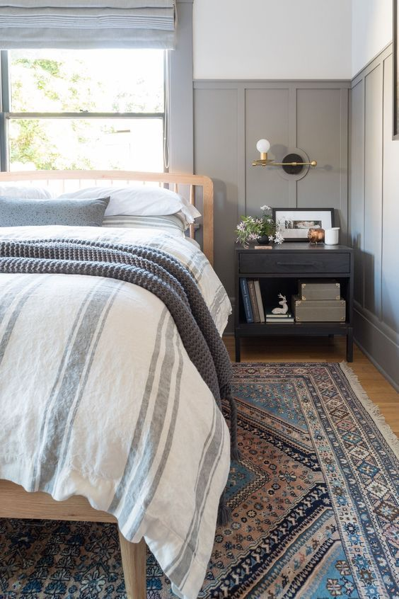 Gorgeous Modern Farmhouse Master Bedroom With Grey Accents